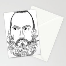 beard's pink flowers Stationery Cards