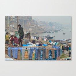 Varanasi Laundry Canvas Print