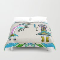 native american Duvet Covers featuring Ceremonial Native American by BohemianBound