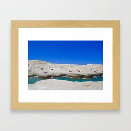 Milos Island, Greece Framed Art Print