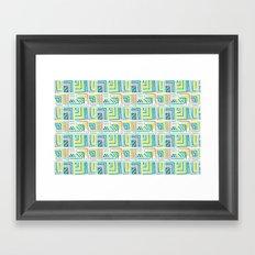 Geometric Color Framed Art Print