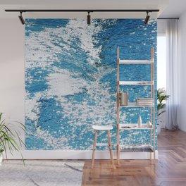 Hard Water Waves Abstract #watercolor #artprints #society6 Wall Mural