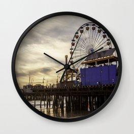 Santa Monica Pier Fun Wall Clock