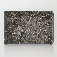 brussels iPad Cases featuring brussels map ink lines by NJ-Illustrations
