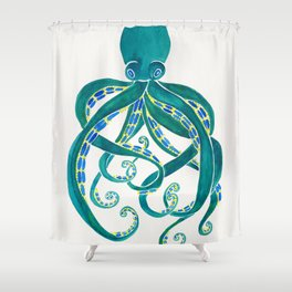 Squid Shower Curtains