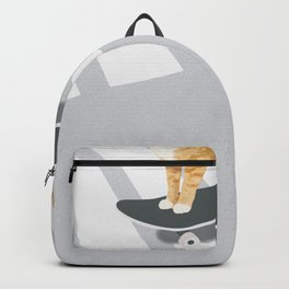 Skateboarding cat Backpack