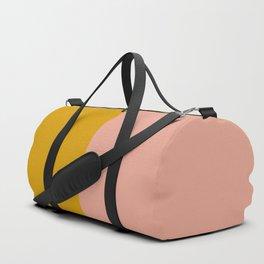 Millennial Pink and Mustard Color Block Duffle Bag