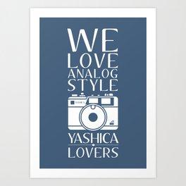"""We Love Analog"" Art Print"