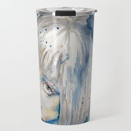 Nieves watercolor portrait by carographic Travel Mug
