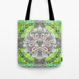 Vibrant Sacred Geometry Mandala Yoga Mat Art Print Tote Bag