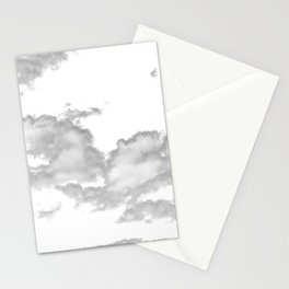 clouds white Stationery Cards