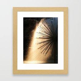 Sunshine and Fountains Framed Art Print