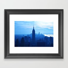 Rhaposdy in Blue Framed Art Print