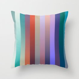 Gradients palette Throw Pillow
