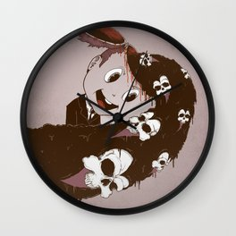 Head Spill Wall Clock