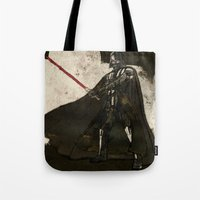 darth Tote Bags featuring Darth Vader by Peter Coleman