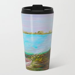 A Boat and a Seamless Sky Travel Mug