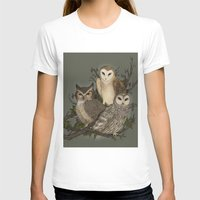 owls T-shirts featuring Owls by Jessica Roux