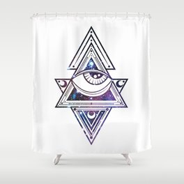 The All Seeing Eye Roll - Deep Space Punch Shower Curtain