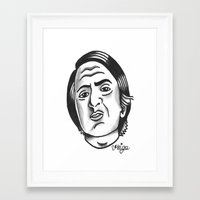 sagan Framed Art Prints featuring Carl Sagan by @VEIGATATTOOER