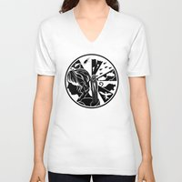 katniss V-neck T-shirts featuring Tik Tok Katniss by sugarpoultry