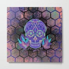 Sugar Skull Dark Side Metal Print