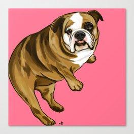 """""""Rosie"""" the Bulldog Canvas Print"""