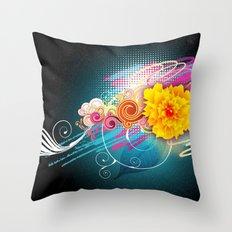 Boom flower Throw Pillow