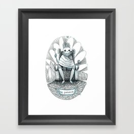 The Emperor Skeleton Tarot Framed Art Print