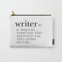 Writer Definition Converts Tea Carry-All Pouch