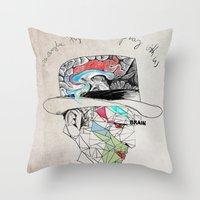 the godfather Throw Pillows featuring Godfather by Mary Szulc