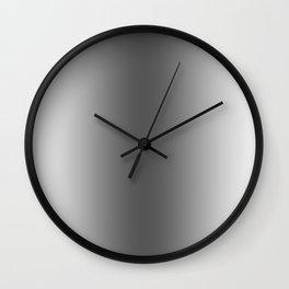 White to Black Vertical Bilinear Gradient Wall Clock