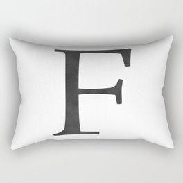 Letter F Initial Monogram Black and White Rectangular Pillow
