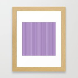 Purple Pinstripes Framed Art Print