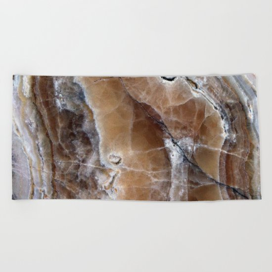 Marble Paint Formation Beach Towel