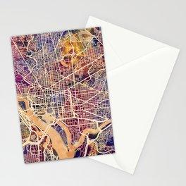 Washington DC City Street Map Stationery Cards