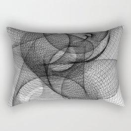 Spiral - White BG. Rectangular Pillow
