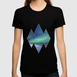 Aurora Northern Lights Abstract Photographic Art T-shirt