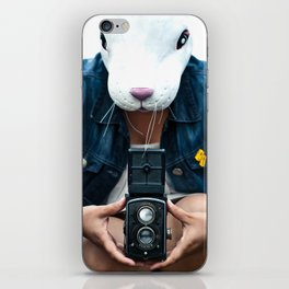 Bunny in a lavender field. iPhone Skin