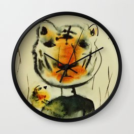 Tiger and Bird Wall Clock
