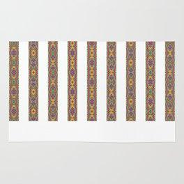 Plain White and Designer Stripes Rug