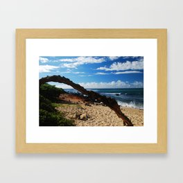 Beach on Maui Framed Art Print