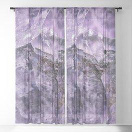 Amethyst Crystal Sheer Curtain