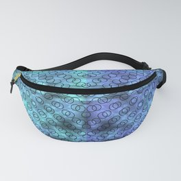 Circles and Squares Pattern Fanny Pack