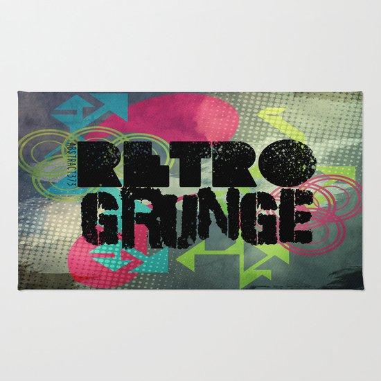 Abstract373 Retro Grunge Rug