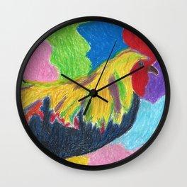 Rainbow Cluck Wall Clock