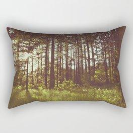 Summer Forest Sunlight - Nature Photography Rectangular Pillow