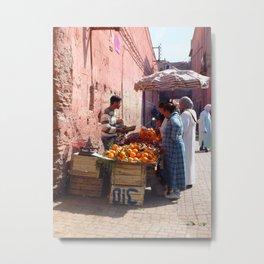 Morocco Market Metal Print