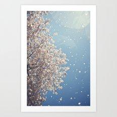 Cherry Blossom Tree Art Print