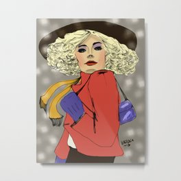 Woman of the 80s Metal Print